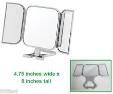Vanity Makeup Table Mirror Cosmetics 3 Way Panel Folding Beauty Bathroom Compact