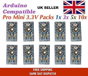 Arduino Pro Mini 3.3V 8 Mhz compatible multipacks Same Day Dispatch - UK Seller