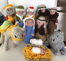 Handmade Crochet Nativity Set