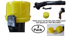 2x BLITZ Yellow Spout Cap fits self-venting gas can spouts 900302 900092 900094