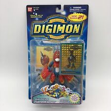 """DIGIMON Digivolving FLAMEDRAMON New 6"""" Trading Card Factory Sealed 2001 #13346"""