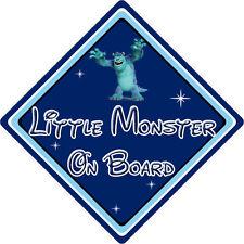 Pequeño monstruo A Bordo Coche Firmar-Bebé a bordo-DISNEY MONSTERS INC Sully DB