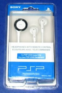 Sony PSP Earbud Headphones w/ Remote Control  PSP98551 *New! Sealed! *Free Ship!