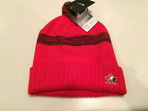 Team Canada 2016 World Juniors Hockey Toque Beanie Hat Cap OSFM Red Pom Cuffed