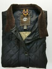 Used Timberland Women's Slim fit Jacket, Black-Brown, Size M