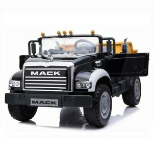 Licensed Mack Dump Truck Kids ride on car - Black