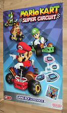 2001 Nintendo Mario Kart Super Circuit Game Boy Advance Promo Poster 84x59.5 cm