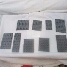 Lego Gray Base plates lot of 9 dark