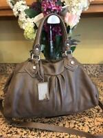 (z) Marc by Marc Jacobs taupe  Leather Classic Q Groovee Handbag (pu300