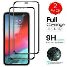 [2-Pack] For iPhone 11 Pro X XR XS Max 9D HD Tempered Glass Screen Protector