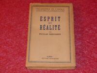 PHILOSOPHIE - NICOLAS BERDIAEFF ESPRIT ET REALITE EO 1943