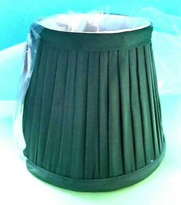 """New Lake Shore Green Pleated w/White Cloth Interior Chandelier Shade 3"""" X 4"""" X 5"""