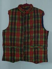 Vintage Saska Sportswear Skiwear Down Vest Men XL Plaid Nylon Snaps Japan Ski