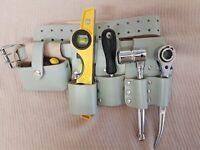 New Heavy Duty Scaffolding Leather Tool Belt 4 Scaffolders Work