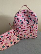 NWT Hearts Lollipops Rainbow Mini Backpack Zipper Set Bag Kawaii Fairy Kei Pink
