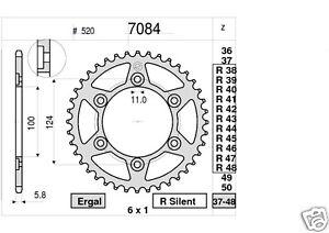7084 Corona in Acciaio Ducati MONSTER 400 600 695 750 800 900 1000 da 46 Denti