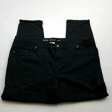 Ava & Viv Jeggings Capri Womens Plus Size 20W Black Power Stretch Jeans Denim