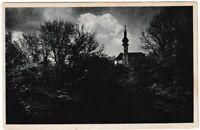 Ansichtskarte Starnberg - Blick auf die Pfarrkirche mit Bäumen - schwarz/weiß