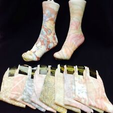 12 X printed Pattern Marble Effect Designs Psychedelic Hippy Funky socks 4-7