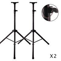2 x Speaker Stands Heavy Duty Adjustable Studio Monitor Pair Tripod Band DJ