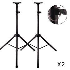2x Ignite Heavy Duty Tripod DJ PA Speaker Stands Adjustable Height - Pair New