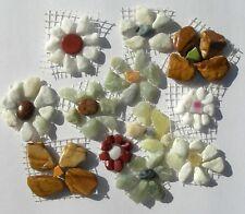 Colorful Floral Marble, Jasper Pebble & Broken China Mosaic Tiles Tiles,