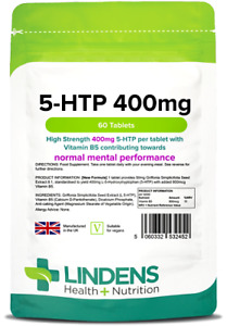 5 HTP 400mg Tablets (60 pack) - Lindens Made in UK
