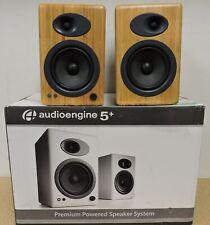 Audioengine A5+ Classic Powered Bookshelf Speakers - Pair (Bamboo)