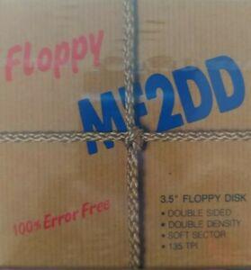 10 x MF2DD Leerdisketten mit Aufklebern (Atari ST, Commodore Amiga) neu und ovp