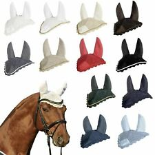 HKM Quality Ear Bonnet Pony Horse Fly Veil Bug Protection All Sizes & Colours