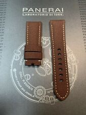 Panerai OEM 24mm Brown Nylon Strap 24/22mm for Tang Buckle with Tubes