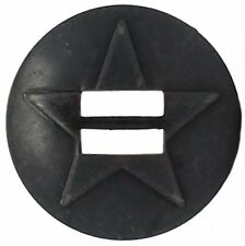 """Slotted Star Concho Brass Black Platted 1-1/2"""" 1352-06"""
