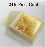 24K genuine gold leaf ,real edible leaf ,food decoration gold leaf 10 PCS 99.9%