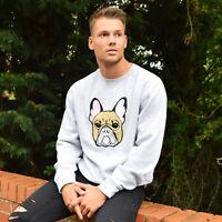 French Bulldog Embroidered Sweatshirt. Dog, Frenchie, Lover, Bulldogs TUMBLR