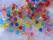 100 Acrylic Bicone Beads 5mm Mixed Colours #a3058 Combine Post-See Listing