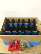 24 NEW 12oz Glass Brewing Bottles Bottle Capper, 50 bottle caps, 6 pack holders