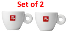 Illy Collection Italy Classic Red LOGO Set of 2 Espresso Cups no Saucers NEW