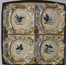 Vintage Ash Tray Sportsman Federal Glass Pheasant Grouse Canada Goose Canvasback