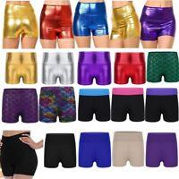 Girls Kids Shorts Hot Pants Dance Sport Gymnastic Fitness Swim Stretch Dancewear