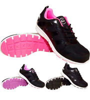 LADIES GROUNDWORK SAFETY STEEL TOE CAP LEATHER WORK HIKING BOOTS TRAINERS SIZE