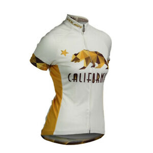 RARE! Voler CALIFORNIA BEAR Cal Club Cycling JERSEY ~ Women's Small Biking Shirt