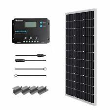 Renogy 100W 12V Monocrystalline Solar Starter Kit w/Wanderer 10A Charger Control