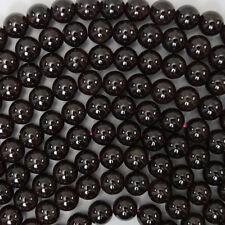 "7mm red garnet round beads 15.5"" strand"
