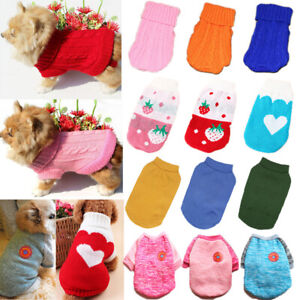 Cute Pet Dog Warm Jumper Sweater Clothes Puppy Cat Knitted Coat Apparel Winter