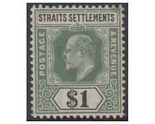 Malaysia 1902 EDWARD VII 1 Dollar dull green-blue SG119, MH -F269