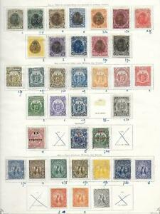 Salvador stamps 1895 Collection of 35 CLASSIC stamps HIGH VALUE!