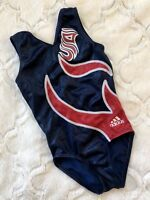Adidas GK ELITE Gymnastics LEOTARD Red WHITE Blue BODYSUIT Dance USA Sporty  CM