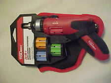 Hyper Tough 24-in-1 Auto-Loading Ratchet Screwdriver with Pouch, Red  /  Black