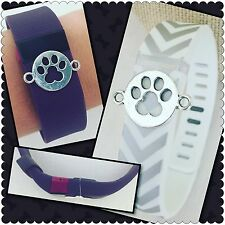 FITBIT ALTA FLEX CHARGE HR BLAZE BLING DOG PAW LOVER CHARM JEWELRY ACCESSORY