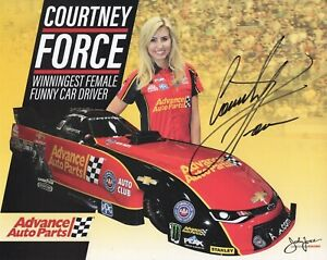 COURTNEY FORCE HAND SIGNED 8x10 COLOR PHOTO+COA        GORGEOUS NHRA DRIVER